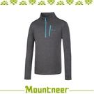【Mountneer 山林 男雲彩針織保暖衣《中灰》】32P03/高領/長袖/旅遊
