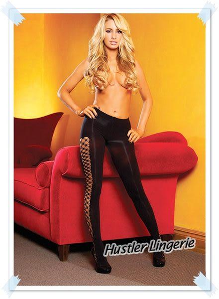 【紫星情趣用品】美國 Hustler Lingerie - 美式熱情! 一體成型提臀編織網襪