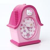 HELLO KITTY粉色房屋鬧鐘256KT  柒彩年代【NVK2】原廠公司貨