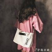 手提包 帆布包女單肩大容量布包韓國簡約文藝斜背包少女手提包 伊鞋本鋪