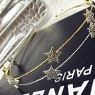 鑲鑽髮圈(任兩件)-閃耀大方五角星星女髮箍2款73gi27[時尚巴黎]