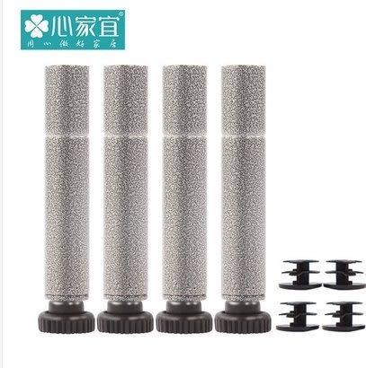 家用置物架配套調節腳 層架收納架儲物架15.8管徑專用調節腳   鎢金鋼