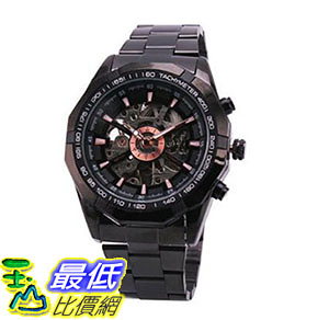 [美國直購] 手錶 Fanmis Best Selling Black Stainless Steel Russian Skeleton Luxury Men Automatic Mechancial B00XGN8EME