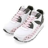 PLAYBOY 夢幻逸品 水玉點點氣墊運動鞋-白粉