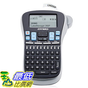 [美國直購] DYMO 1754490 標籤機 打標機 LabelManager 260P Rechargeable Hand-Held Label Maker