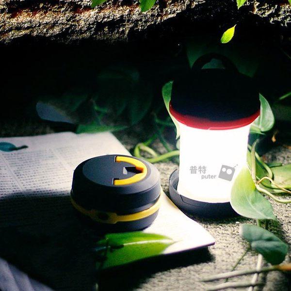 普特車旅精品【OF0030】可伸縮LED露營燈+手電筒 懸掛式+手提式摺疊帳篷燈 攜帶