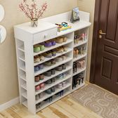 簡易鞋架多層仿實木懶角落多功能經濟型大容量省空間門口家用鞋櫃igo『小琪嚴選』
