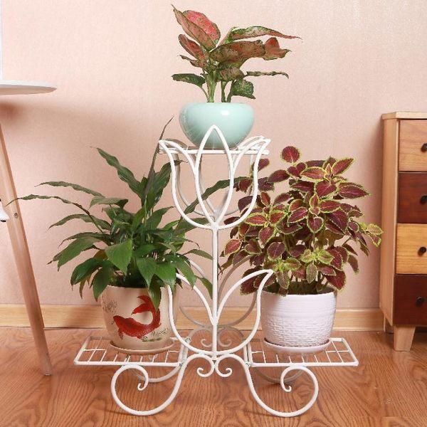 花架鐵藝多層綠蘿吊蘭實木花架地面客廳室內落地花盆架 全館限時八八折