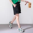 【慢。生活】設計款口袋寬版丹寧短褲 K2336  FREE 黑色