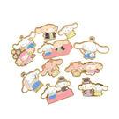 Hamee 日本製 三麗鷗 金箔邊框 燙金和紙 造型貼紙包 和風裝飾DIY 新年賀年狗年 (大耳狗) 074225N