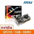 微星 MSI GT210-MD1G/D3 1G DDR3 64bit PCI-E 3D 圖形加速卡 顯示卡