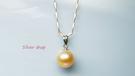 Silver 淡水珍珠 銀飾材質 墜+鍊...