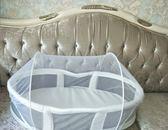 嬰兒床床中床bb新生兒便攜式小床可折疊睡籃多功能旅行寶寶床上床   LannaS