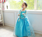 衣童趣 ♥冰雪奇緣公主洋裝cosplay 安娜洋裝長裙 角色扮演 紗裙 表演服 萬聖節 禮服【現貨】