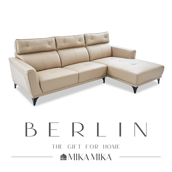 【MIKAMIKA】柏林Berlin匠心工藝半牛皮左L型沙發