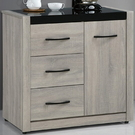 櫥櫃 餐櫃 SB-858-2 清心2.8尺鋼刷淺灰色碗盤櫃下座【大眾家居舘】