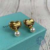 BRAND楓月 TIFFANY&CO. 蒂芬妮 18K 愛心 珍珠 吊墜 夾式 耳環 耳夾 飾品 配件