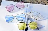 太陽眼鏡韓版新款墨鏡個性太陽眼鏡大框瘦臉時尚潮流金屬框墨鏡男女 【快速出貨八折】