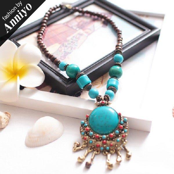Anniyo安妞‧波西米亞民族度假風情純手工復古瑪瑙頸鏈項鍊 2色 RX013