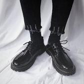 馬丁靴黑色學生厚底增高休閒潮男鞋韓版馬丁短靴zh823【極致男人】