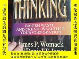 二手書博民逛書店Lean罕見Thinking : Banish Waste an