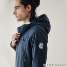 【GIORDANO】男裝Softshell 三合一高機能刺繡徽章連帽外套-05 海軍寶藍