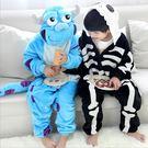 毛怪  骷髏兒童卡通動物連身睡衣 派對角色扮演服 親子裝 預購