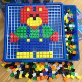 兒童玩具拼插積木早教益智蘑菇釘拼圖3-4-5-6周歲 WD217 【旅行者】