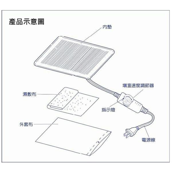 Comefree 遠紅外線全方位動力式熱敷墊 30x60CM CF-2221P *愛康介護*