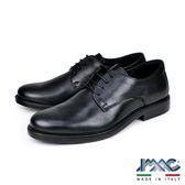 【IMAC】義大利牛皮輕量抗震氣墊德比紳士鞋  黑色(100260-BL)