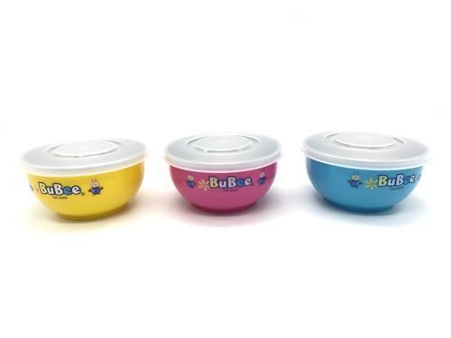 【好市吉居家生活】寶石牌 Y-235S 豆豆 316不銹鋼 雙層隔熱碗 (附湯匙蓋子) 餐碗 防滑碗