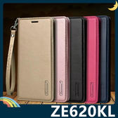 ASUS ZenFone 5 ZE620KL Hanman保護套 皮革側翻皮套 隱形磁扣 簡易防水 帶掛繩 支架 插卡 手機套 手機殼