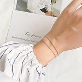 925純銀手鏈女 生雙層簡約個性超細學生手飾品小清新復古少女
