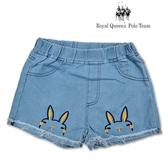 女童 兔子圖案 反折抽鬚 牛仔褲 短褲[55013] RQ POLO  小童 5-15碼 春夏 童裝 現貨