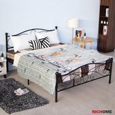 【RICHOME】BE255 《法蘭5尺雙人床(經典設計)》 床架 臥室 房間 寢室 寢具