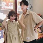 同色系情侶裝裙子新品 新款 韓版寬鬆洋裝 連身裙 女仙氣甜美短袖 聖誕裝飾8折