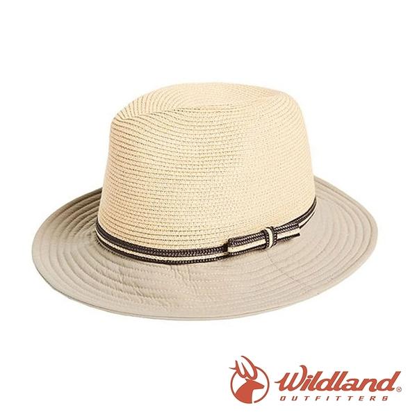 【wildland 荒野】中性 N/P時尚帽 (帽沿配布)『黃卡其』W1071 戶外 休閒 運動 露營 登山 吸濕 排汗
