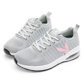PLAYBOY 交響樂章 針織氣墊輕量運動鞋-灰(Y5739灰)