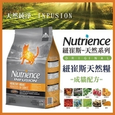 *KING*美國Nutrience紐崔斯《INFUSION天然成貓飼料-雞肉》2.27公斤