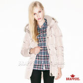 BRAPPERS 女款 女用長版羽絨外套-卡其