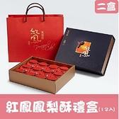 【南紡購物中心】《億達食品》紅鳳鳳梨酥禮盒(12入)-榮獲2011府城十大伴手禮(二盒)