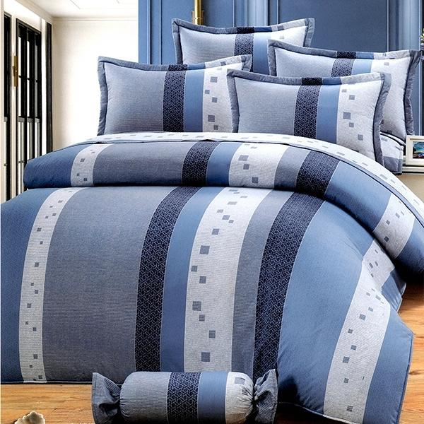【貝淇小舖】 微笑MIT【6995】精梳棉單人鋪棉床罩五件組~