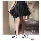 魚尾裙 小個子穿搭百褶裙荷葉邊半身裙夏裝高腰法國 魚尾短裙-Ballet朵朵