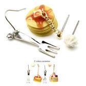 耳環 日本製-糖果鬆餅三件式耳環 【日本正版Osewayaお世話や】