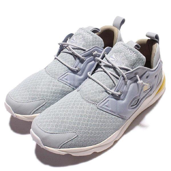 Reebok 休閒慢跑鞋 Furylite CLSHX 灰 黃 奶油底 網布鞋面設計 PUMP 復古 男鞋【PUMP306】 AR1321