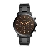 FOSSIL個性潮流三眼黑鋼腕錶FS5525