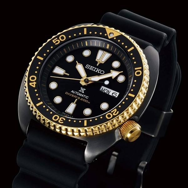 SEIKO 精工 PROSPEX 海洋200米潛水機械錶-黑金鮑 4R36-07L0K(SRPD46J1)