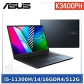"ASUS VivoBook Pro K3400PH-0308B11300H (14""WQXGA/i5-11300H/16G/GTX 1650-4G/512G PCIe)"