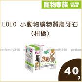 寵物家族-LOLO 小動物礦物質磨牙石(柑橘)40g