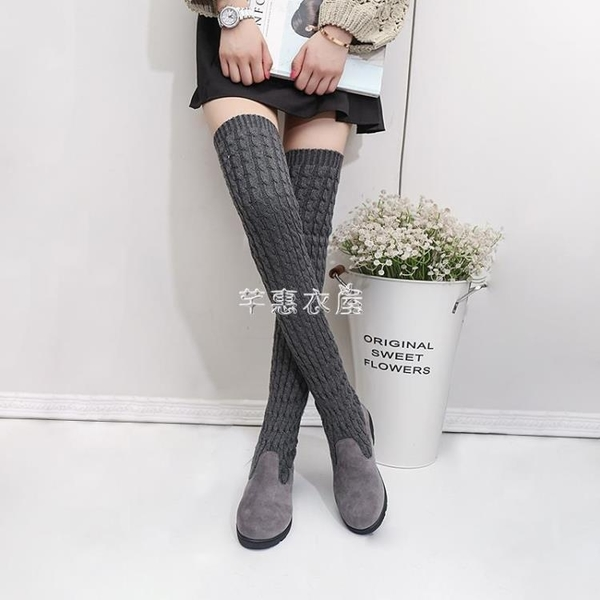過膝靴高筒靴2019新款秋冬彈力靴女士兩穿瘦瘦靴時尚長款單靴子潮 交換禮物